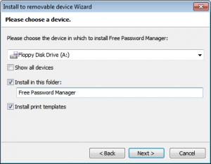 Install to removable device Wizard