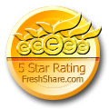 5 stars award from  FreshShare