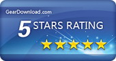 5 stars award from geardownloads.com